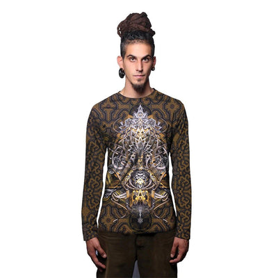 Golden Arms Of Depression Full Sleeves Sublimation T Shirt (4389681430611)