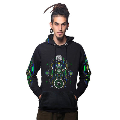 Hitech Shaman Glow In The Dark Cotton Hoodie (4688717447251)