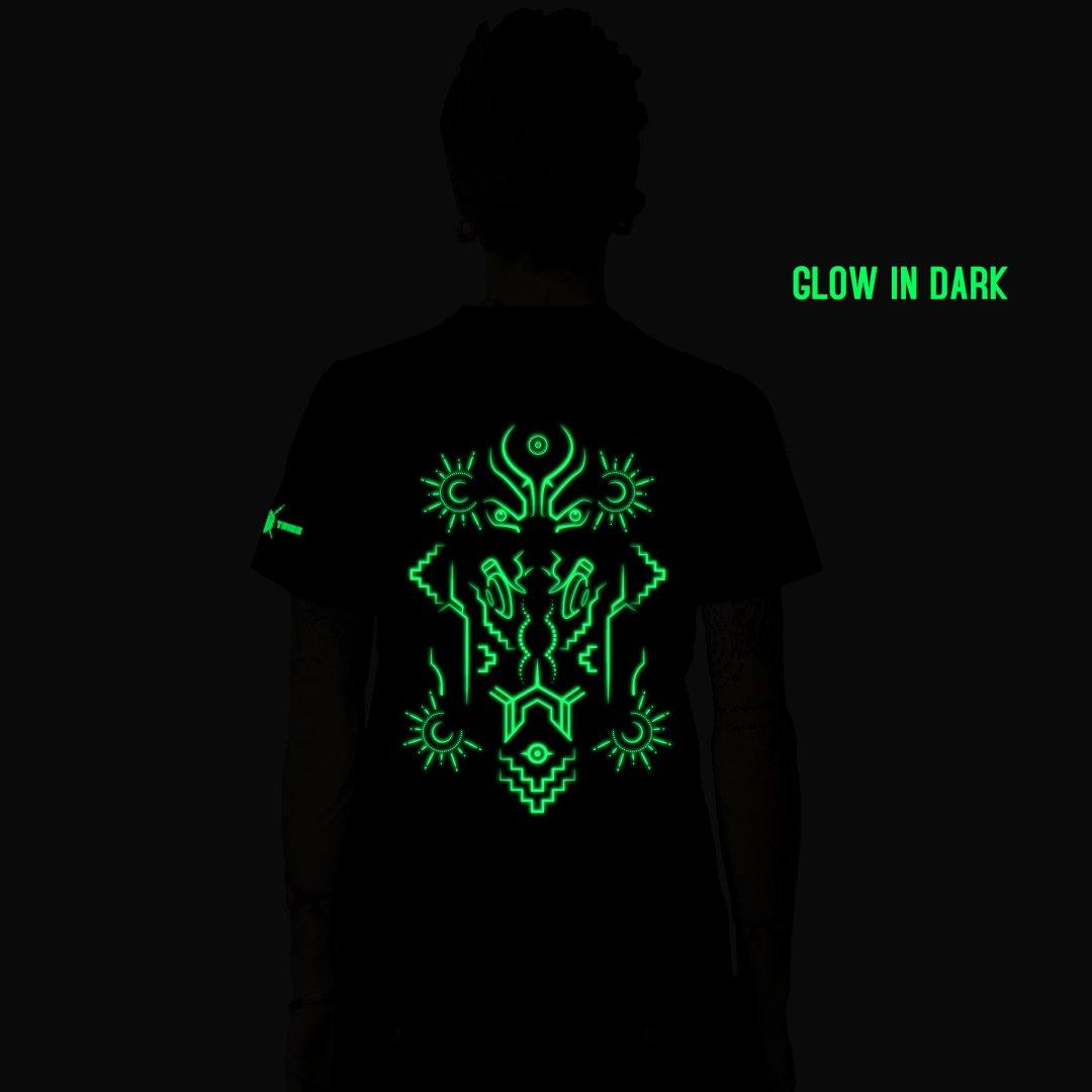 Astral Dimensions Glow In Dark Half Sleeve T-Shirt (6132413464760)