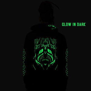 Cebarus zip up Cotton Hoodie UV Plus Glow In Dark (6040564433080)
