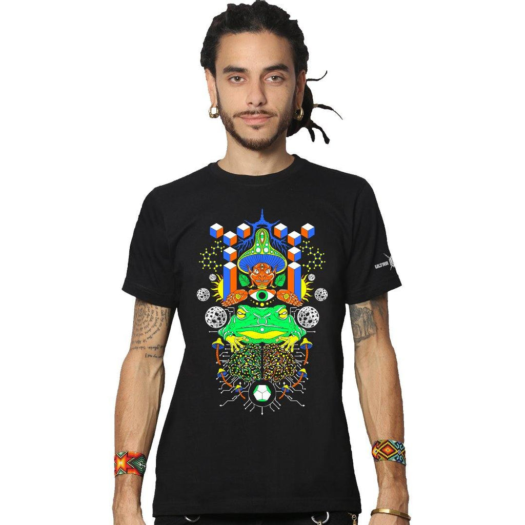 Tripta-Mind UV Reactive Plus Glow In Dark Half Sleeve T-Shirt (6141750509752)