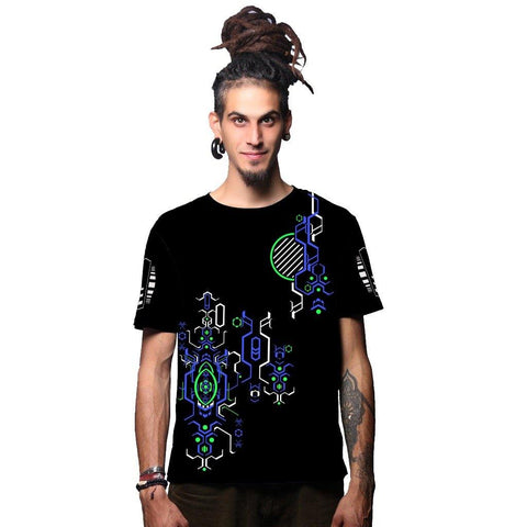 Psykoptic Blue Glow In The Dark T Shirt (4392593129555)