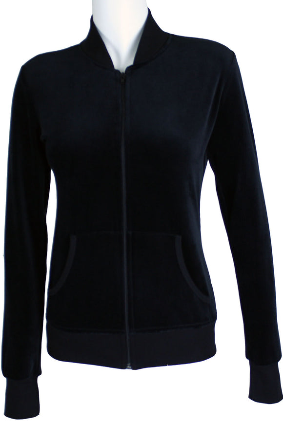 Black Zip Collar Jacket
