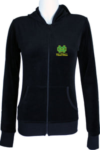 Mira Costa Volleyball Womens Black Zip Hoodie
