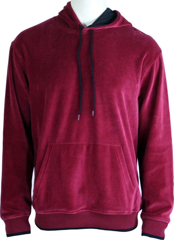 Burgundy Hooded Sweatshirt
