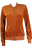 Burnt Orange Zip Collar Jacket