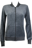Charcoal Gray Zip Collar Jacket