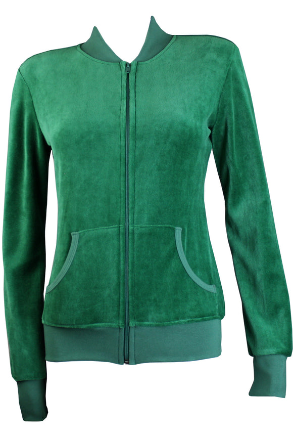 Forrest Green Zip Collar Jacket