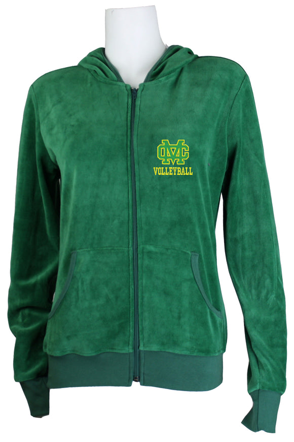 Mira Costa Volleyball Womens Zip Hoodie