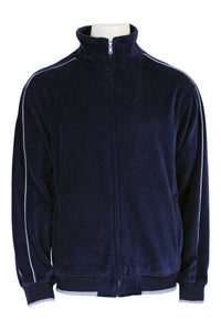 Navy Blue velour track jacket, sweatsuit, jump suit