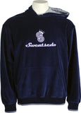 Navy Blue Logo Hooded Sweatshirt