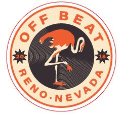 Offbeat Flamingo Round Sticker