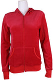 Red Hottie Velour Zip Hoodie