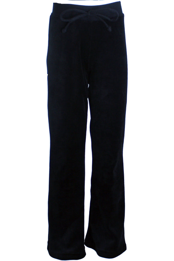 Youth Black Velour Pants