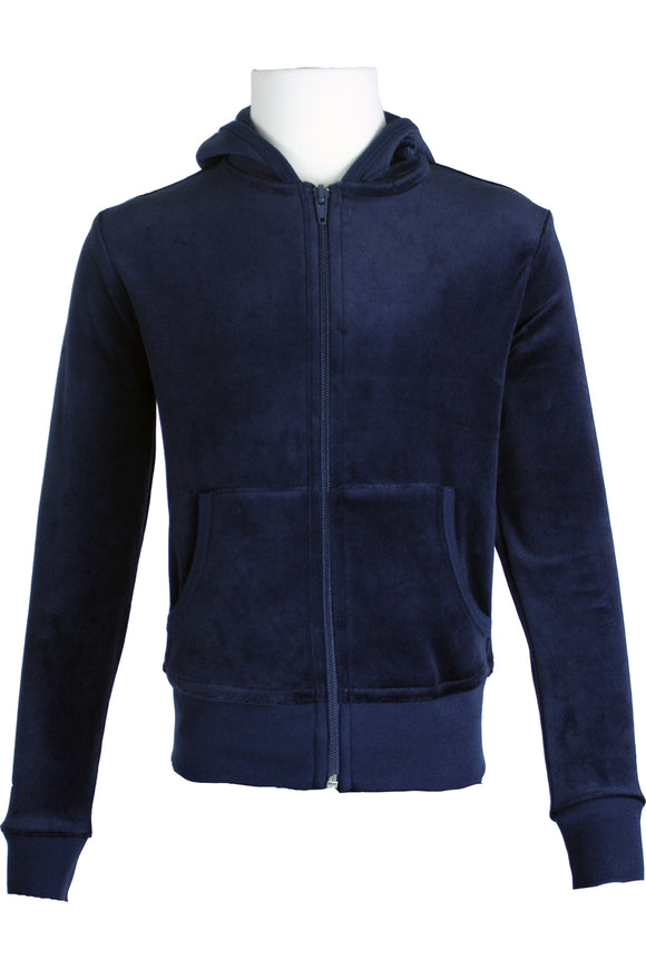 Youth Navy Blue Zip Hoodie