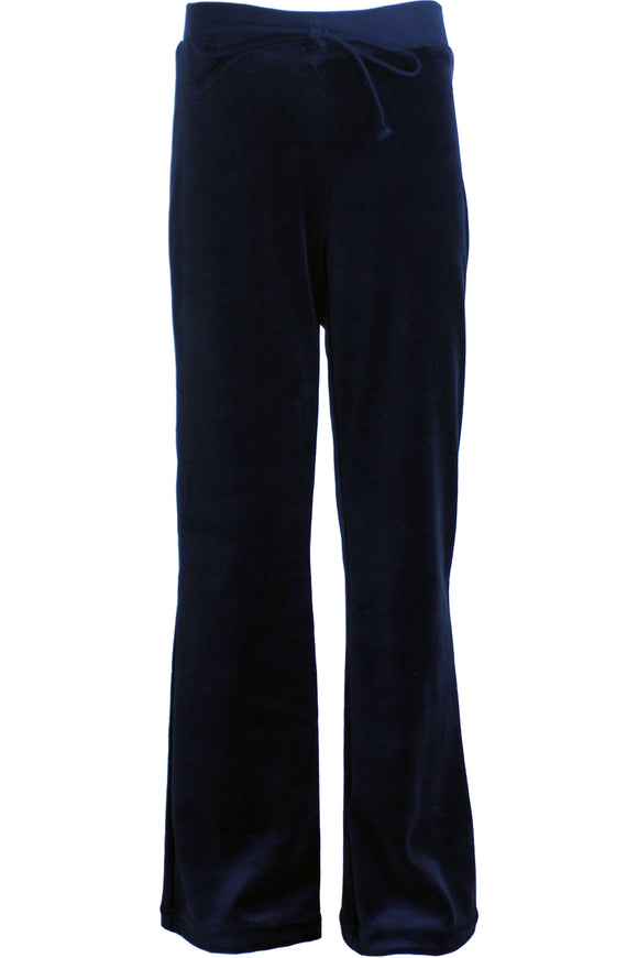 Youth Navy Blue Velour Pants