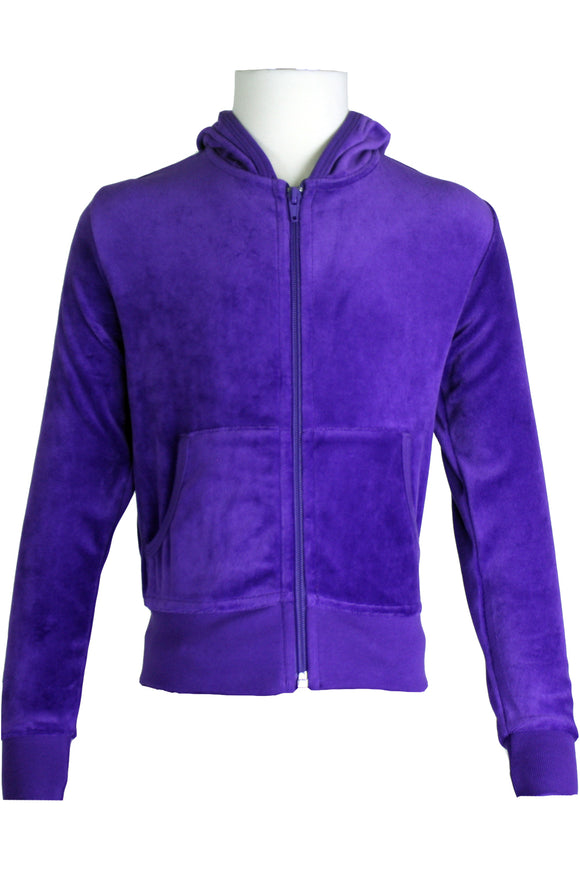 Youth Purple Zip Hoodie