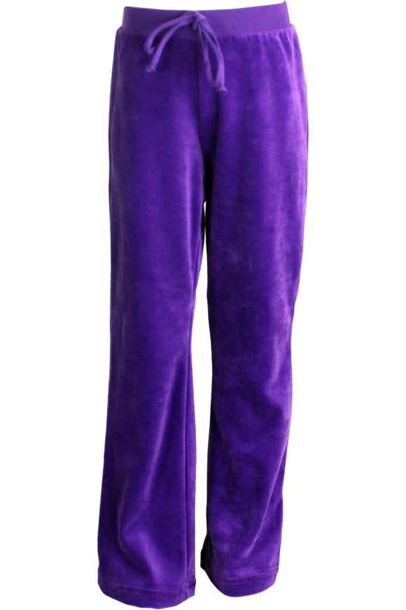 Youth Purple Velour Pants
