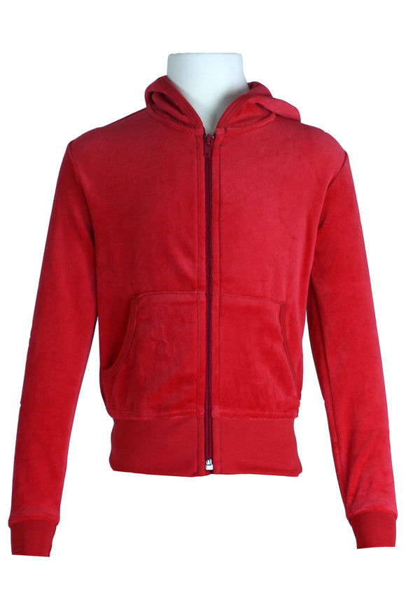 Youth Candy Apple Red Zip Hoodie
