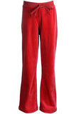 Youth Candy Apple Red Velour Pants