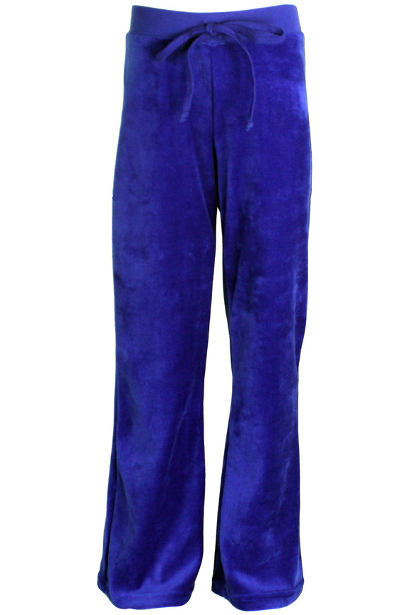 Youth Sapphire Blue Velour Pants