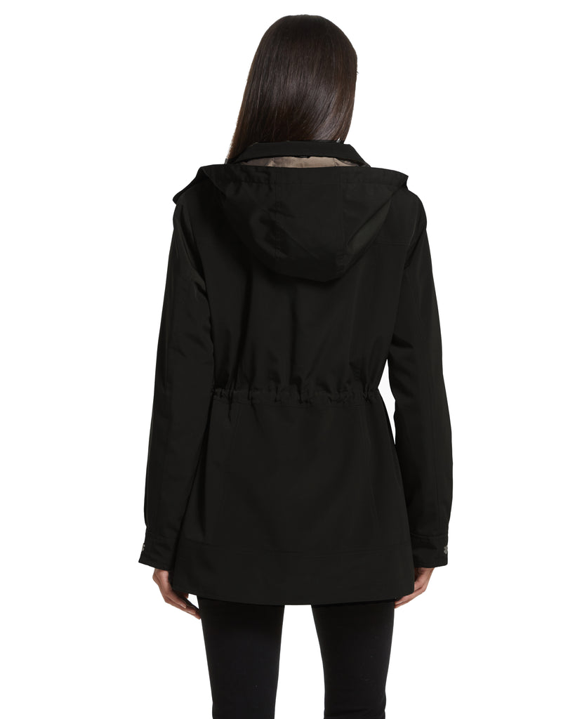 Contemporary Rain Jacket with Removeable Hood