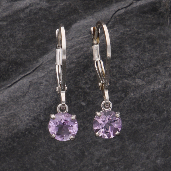 Simple Amethyst Dangles