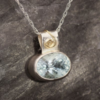 Fisher Quarry Aquamarine Pendant
