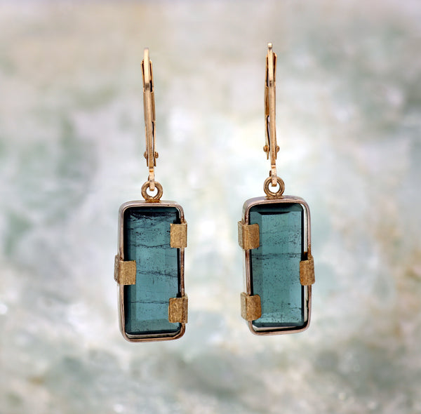 Plumbago Mountain Slice Earrings