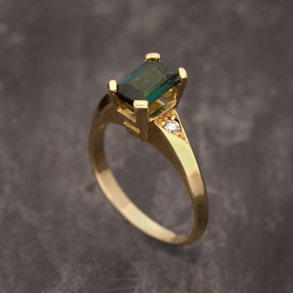 Accented Tourmaline Ring