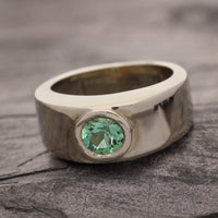 Havey Tourmaline Wide Band Ring