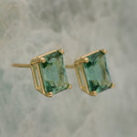 Gorgeous Green Tourmaline Stud Earrings