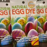 Celebrate Easter in style and safety! This eco-friendly Egg Dye is vegan, GMO-free, gluten-free and made in the USA. All dyes are made with fruits, herbs and vegetables. 100% safe and nontoxic. Kit contains: 4 colors of natural dye that make up to 7 colors, plus a collection of creative egg art ideas!