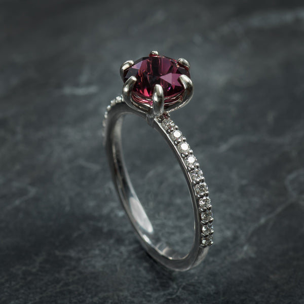 Rubellite Engagement Ring
