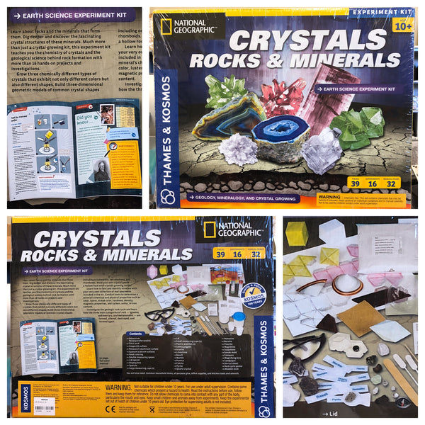 Crystals, Rocks & Minerals Experiment Kit
