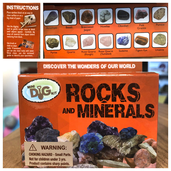 Rocks and Minerals Mini Dig Kit