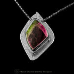 """In the Canopy"" Watermelon tourmaline Pendant"