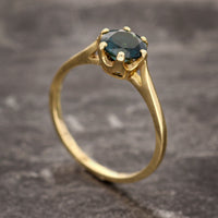 Solitaire Tourmaline Engagement Ring