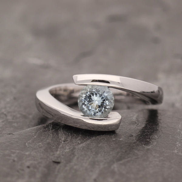 Bypass Aquamarine ring