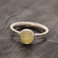 Golden Beryl Cabochon Ring