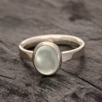 Aquamarine cabochon ring