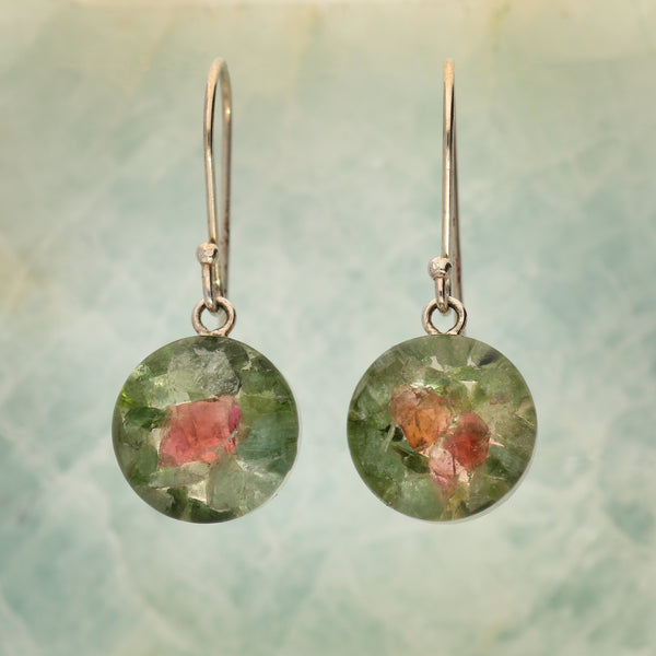 Tourmaline Mosaic Earrings