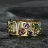 """Over the Rainbow"" Rings by Paula Crevoshay"