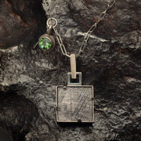 Square Peg, Round Hole Pendant by Donna D'Aquino