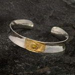 Anticlastic bracelets with Gold- by VWD Jewelry