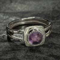 Split Shank Cabochon Rings by VWD Jewelry