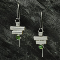 Art Deco Inspired Double Tube Earrings