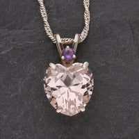 Heart Shaped Morganite Pendant