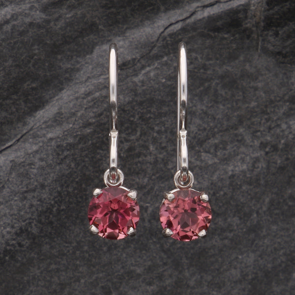 Simple Pink Tourmaline Dangles