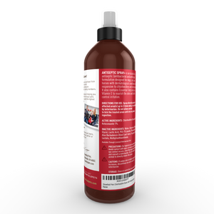 Chlorhexidine Spray with Ketoconazole, 8 oz, for Cat & Dog Skin, Itching, Hot Spot Treatment, Ringworm, Yeast Infection, Acne, Antifungal, Antibacterial, Antiseptic - Made in USA